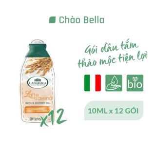 Combo 12 Gói Sữa Tắm Thảo Mộc L Angelica Bath&Shower Gel Tinh Chất Yến Mạch 10ml - Soothing With Oat Milk thumbnail