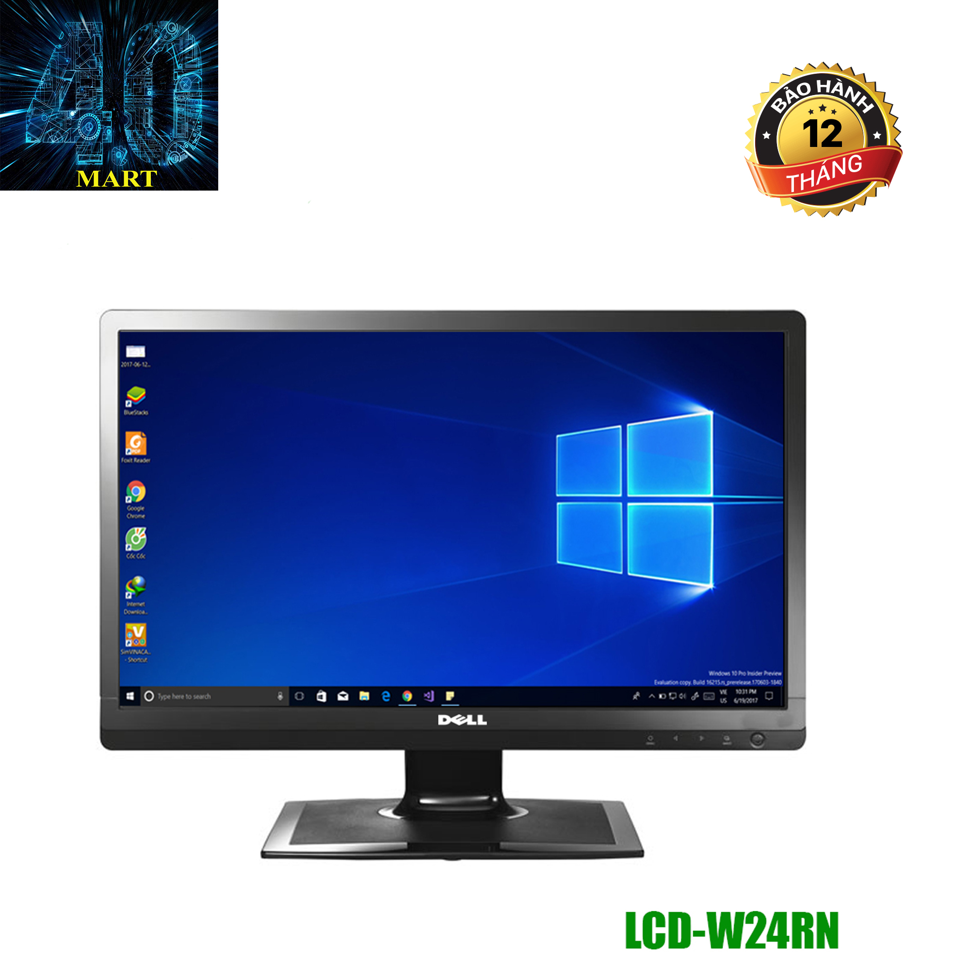 Màn Hình Dell W24RN (24″/FHD/LED/HDMI+DVI+VGA/300 cd/m²/5ms)-FULL BOX