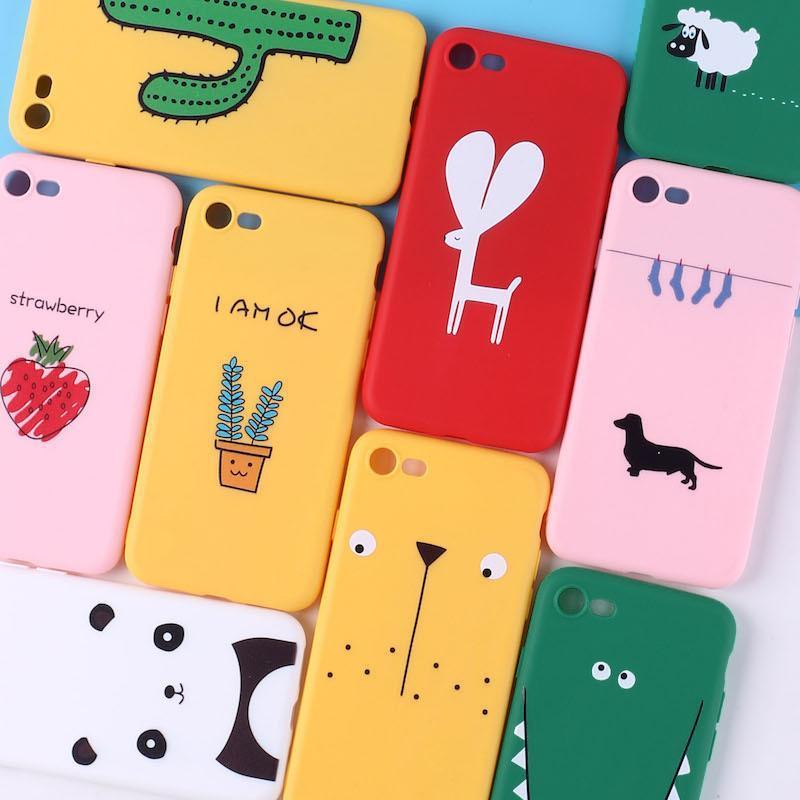 Giá Ốp lưng iphone Silicon dẻo hình cute cho các dòng iphone 6/6s/6plus/6splus/7/8/7plus/8plus/X/Xr/Xs/XsMax