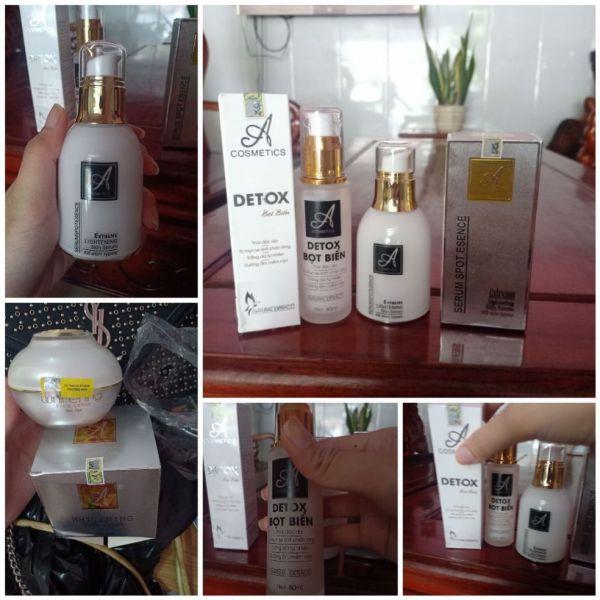 combo Kem face pháp A cosmetics 50g , detox bọt biển A cosmetics 80ml , serum spot esence A cosmetics phương anh 50ml