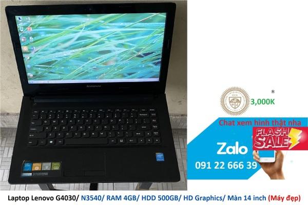 Bảng giá Laptop Lenovo G4030/ N3540/ RAM 4GB/ HDD 500GB/ HD Graphics/ Màn 14 inch (Máy đẹp) Phong Vũ