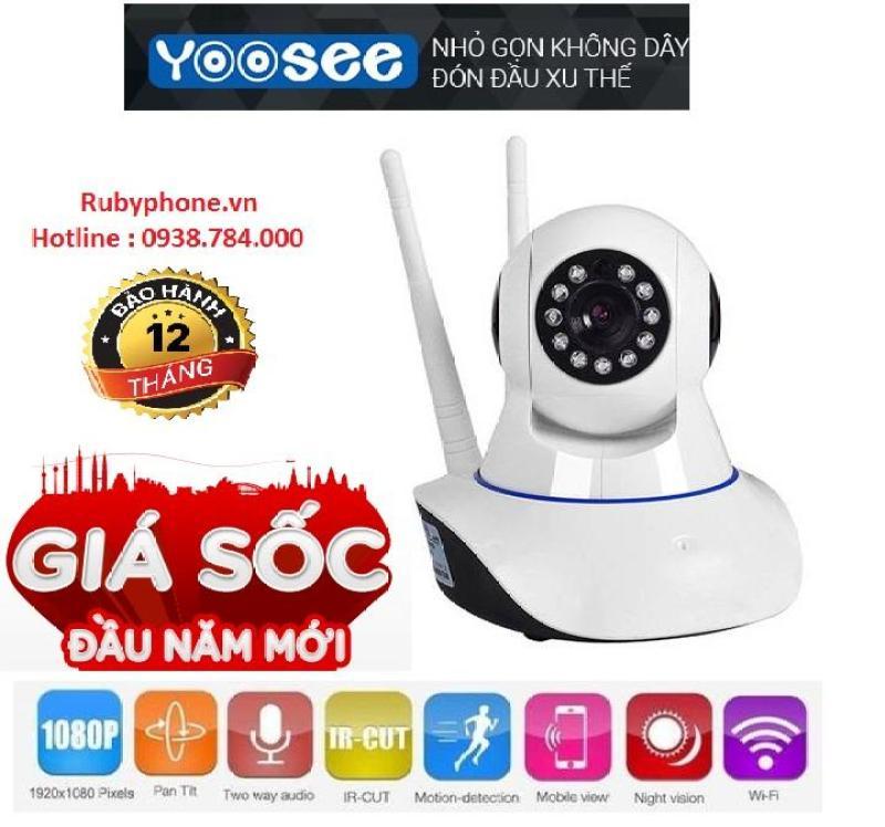 Camera Yoosee 3 râu Wifi - HD720 - Hồng ngoại - Báo trộm
