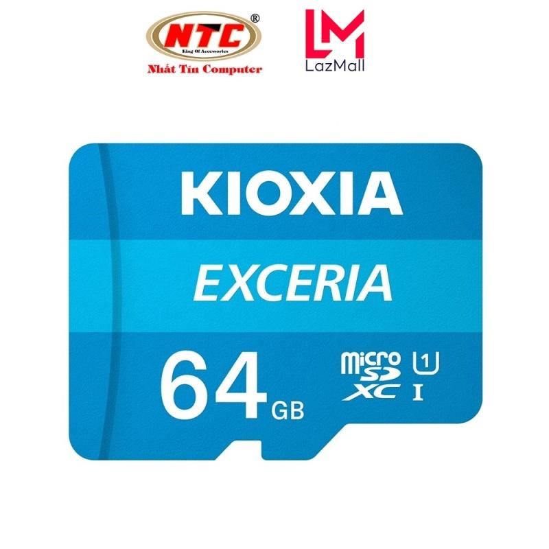 [TẶNG 10 BAO LÌ XÌ] Thẻ nhớ MicroSDXC Kioxia Exceria 64GB UHS-I U1 100MB/s - Formerly Toshiba Memory (Xanh)