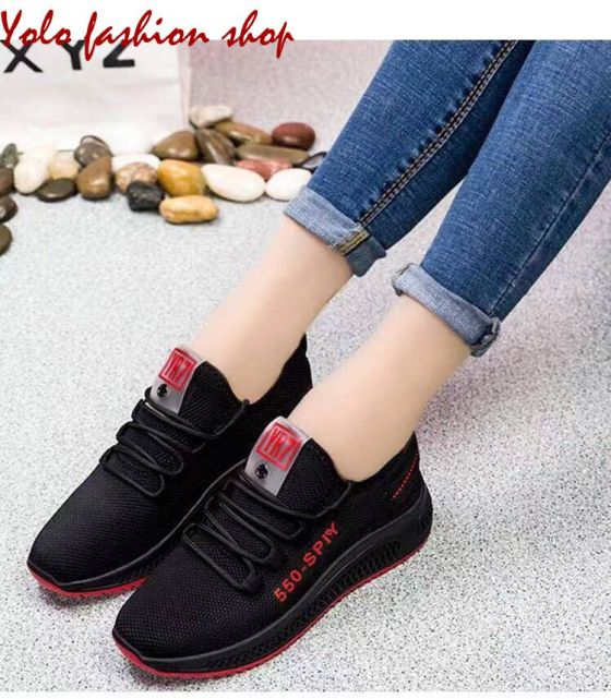 Giày thể thao nữ đế êm giày thể thao đi bộ phối màu xinh xắn-TT13 giá rẻ