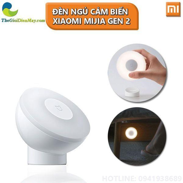 Đèn ngủ cảm biến Xiaomi Mijia gen 2 MJYD02YL dùng pin AA - Bảo Hành 6 Tháng - Shop Thế Giới Điện Máy
