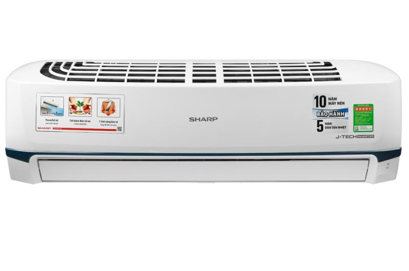Máy lạnh Sharp Inverter 2 HP AH-X18XEW 2020 Lọc bụi, kháng khuẩn, khử mùi:Lưới bụi polypropylene Chế độ làm lạnh nhanh:Powerful Jet Chế độ gió:Điều khiển lên xuống tự động, trái phải tùy chỉnh tay,
