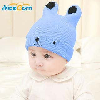 Mũ len NiceBorn mềm mại ấm áp họa tiết hình gấu dễ thương dành cho bé trai/bé gái - INTL