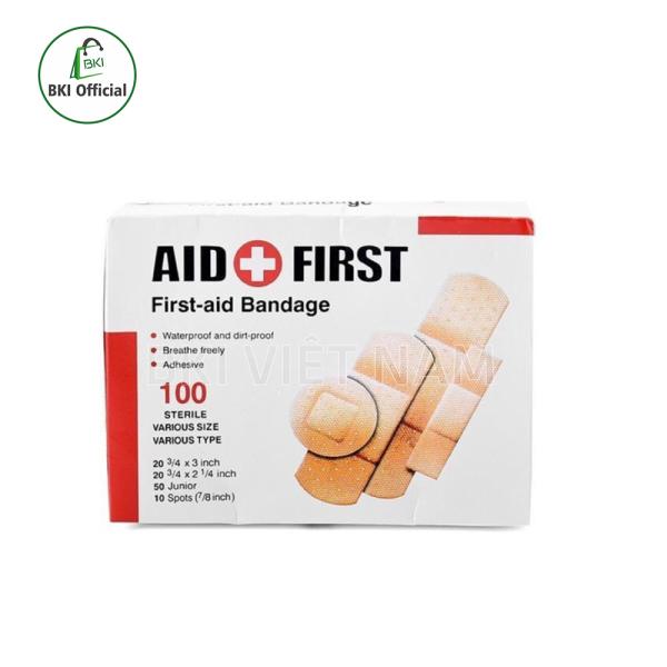 Hộp 100 Miếng Băng Dán Vết Thương - Băng y tế URGO AID FIRST