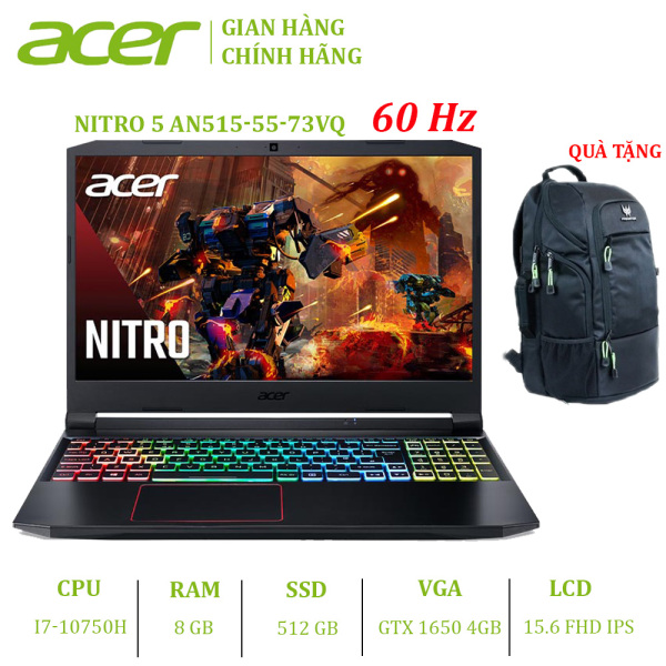 Bảng giá Laptop Acer Nitro 5 2020 AN515-55-73VQ (i7-10750H | 8GB | 512GB | VGA GTX 1650 4GB | 15.6 FHD | Win 10) Phong Vũ