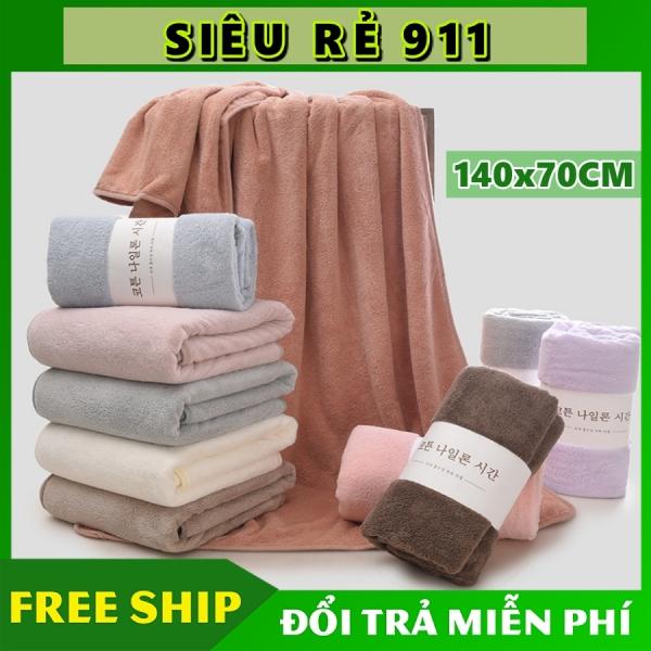 Khăn Tắm Hàn Quốc Mềm Mịn, Thấm Hút Tốt, Khổ 70cm x 140cm nhập khẩu