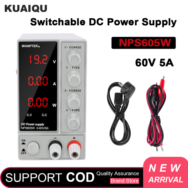 Giá WANPTEK Adjustable 0-60V 0-5A  NPS605W DC Switching Voltage Regulator  Lab Plating Power Supply ,15V 48V 60V 5A for mobile phone  repair, plating ,Lab operation