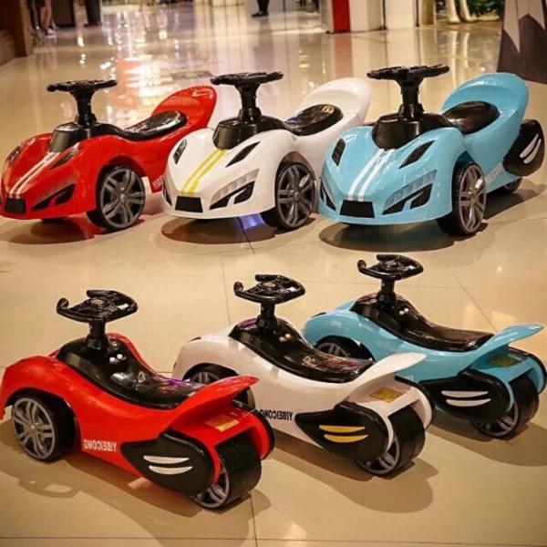 Giá bán xe chòi chân cho bé - oto chòi chân cho bé - XE LẮC - kiểu mới có đèn có nhạc - xe cho bé 1-4 tuổi