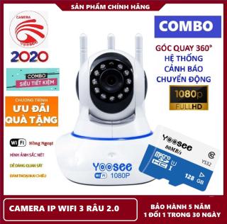 CAMERA CHUẨN 2.0 MPX,Khuyến mãi thẻ nhớ 128GB chuyên dụng với mã388k và không thẻ với mã 283 k,camera IP Wifi 3 râu ,chống chộm ,quan sát từ xa FullHD Không Dây Camera trong nhà,Camera hồng ngoại tích hợp ,lưu trữ dữ liệu trong t gian dài thumbnail
