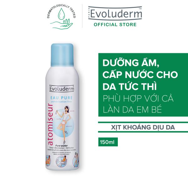 Xịt Khoáng Cấp Ẩm Làm Dịu Da Evoluderm Atomiseur Eau Pure 150ml - Chính hãng Pháp nhập khẩu