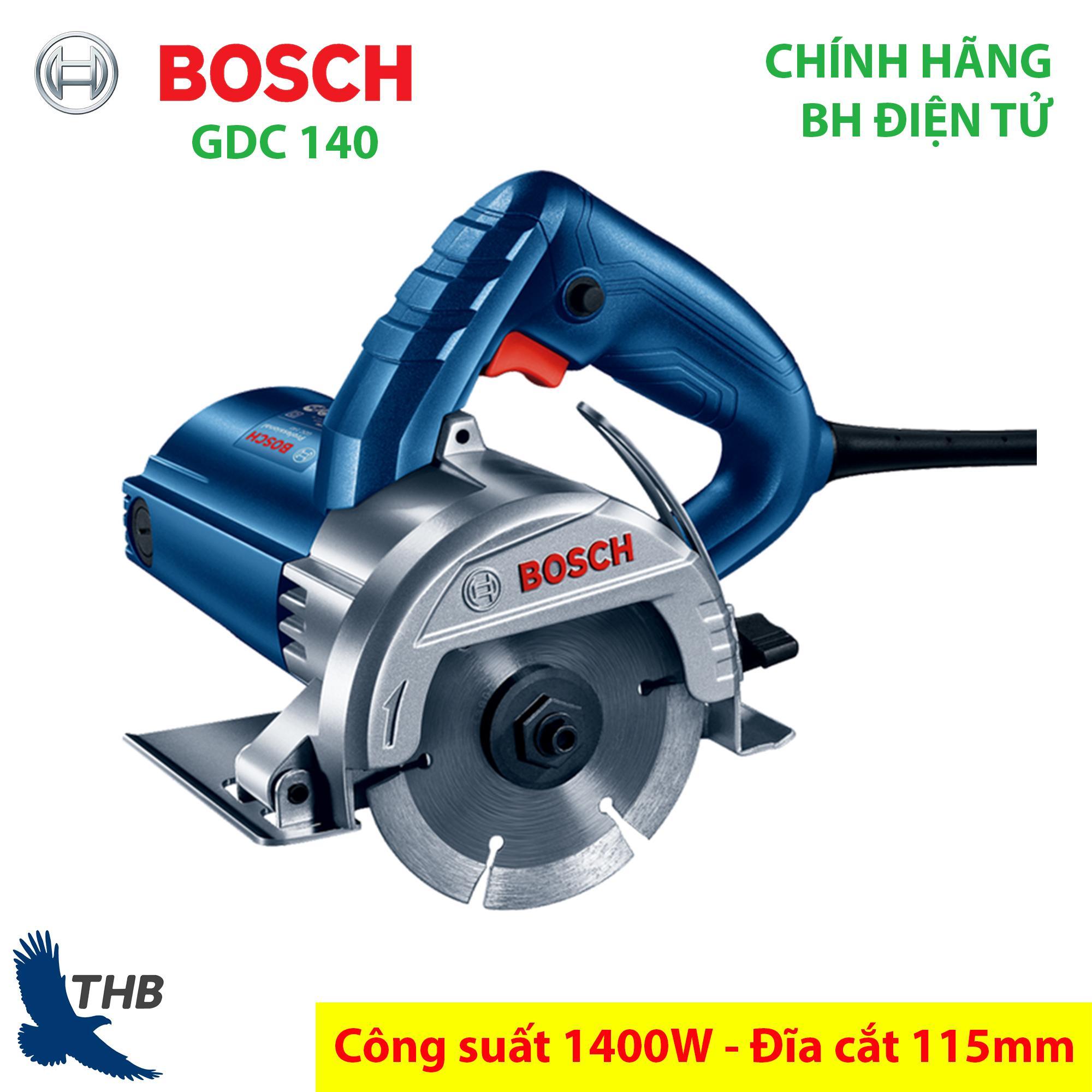 Máy cắt gạch, máy cắt gạch men, máy cắt đá Ceramic, Máy cắt gạch giá rẻ Bosch chính hãng GDC 140 ( đĩa cắt 115mm, bảo hành điện tử 6 tháng, công suất 1400W) Dòng máy mới 2019 của Bosch