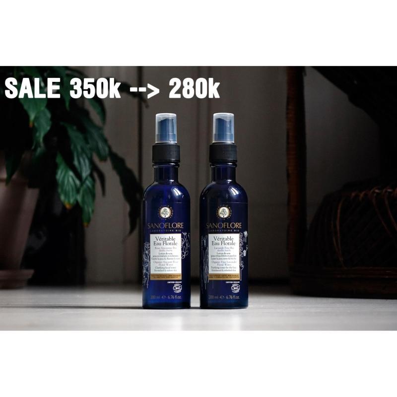 Nước hoa hồng Sanoflore Veritable eau Floral dạng xịt 200ml