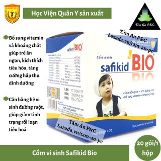 Cốm vi sinh Safikid Bio Học Viện Quân Y (hộp 20 gói)- Cải thiện chứng biếng ăn của trẻ, bổ sung vitamin và khoáng chất- CHÍNH HÃNG HỌC VIỆN QUÂN Y thumbnail