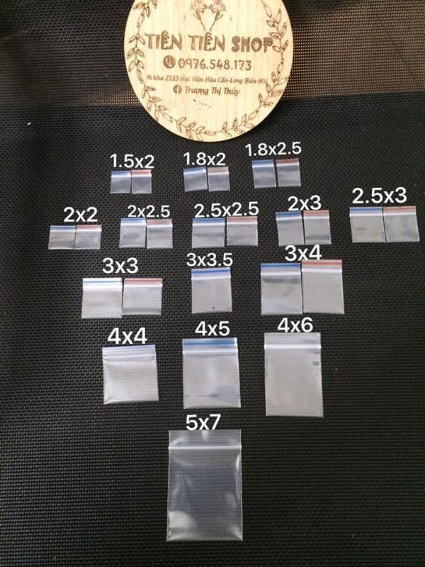 100c Túi zip mini chuyên dụng đựng đá quý cao cấp