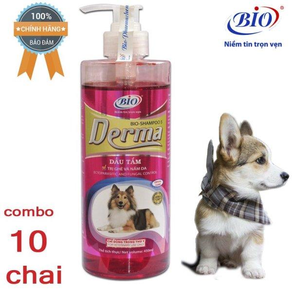 Combo 10 Chai Sữa tắm tiêu diệt ghẻ và nấm da demodex triệu chứng hôi lông với rụng lông-79303