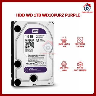 [BÁN LẺ - GIÁ SỈ] Ổ cứng Camera HDD WD PURPLE 1TB WD10PURZ (Bảo Hành 2 Năm) - Dung Lượng 1TB - Tốc Độ Quay 5400RPM - Camera Home thumbnail