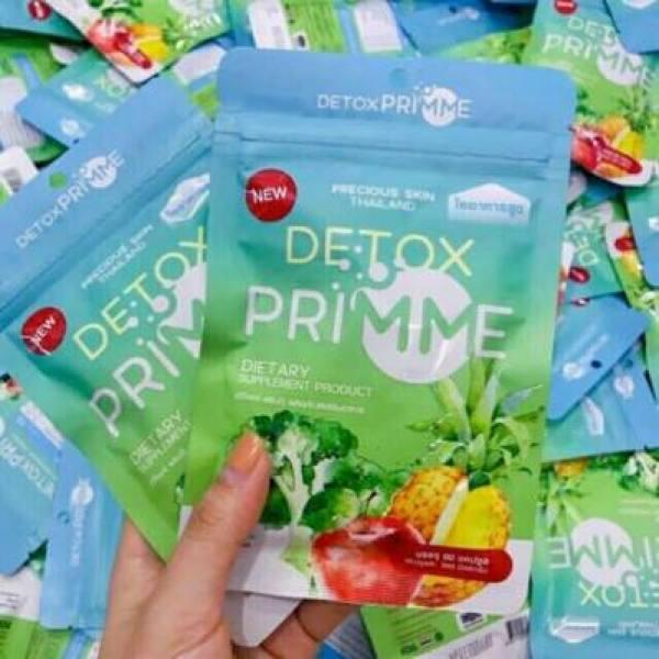 Detox Thái Primme 2021 chiết xuất rau củ -hàng chính hãng ,60 viên Khử mỡ