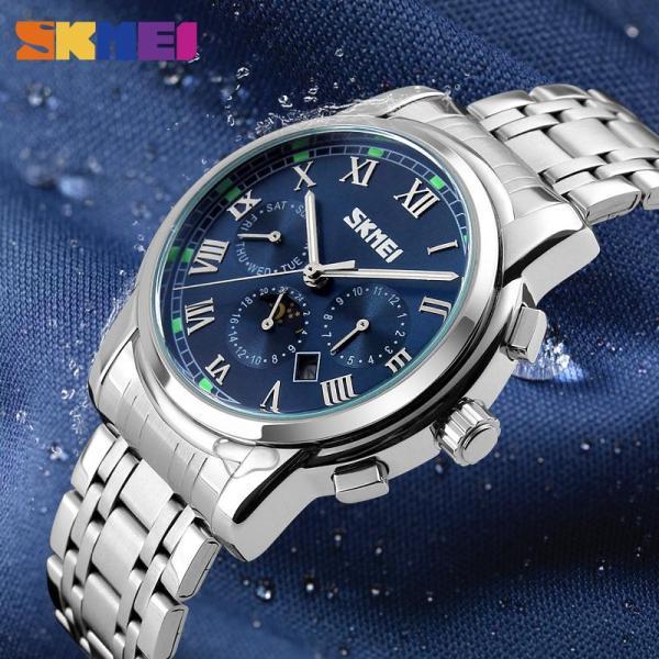 Nơi bán SKMEI Đồng hồ kinh doanh nam Thép không gỉ Chống nước Đồng hồ thời trang 9121