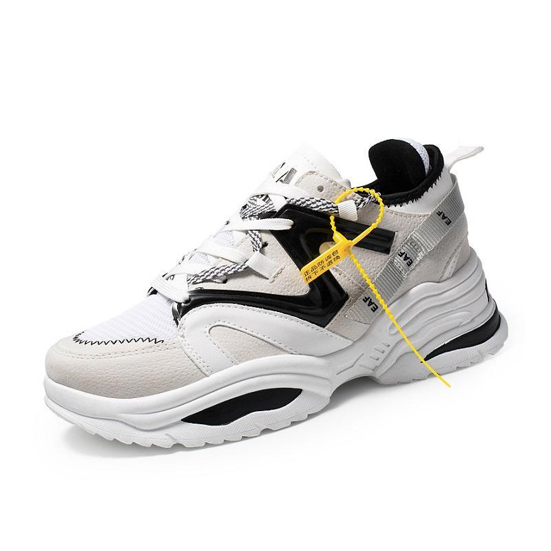 Giày Sneaker Nam Mẫu Mới Siêu Hot BAZAS BZ111NM Màu Trắng Phối Đen