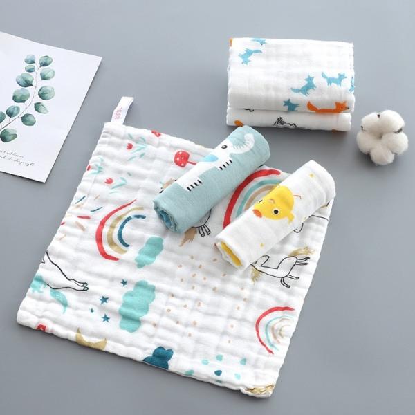 Giá bán (Cao cấp) Set Khăn xô khăn mặt khăn dãi cho bé ngộ nghĩnh xuất Nhật cực mềm đẹp 6 lớp