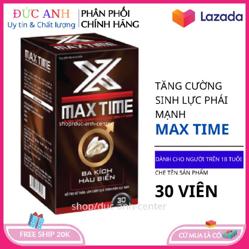 MAX TIME viên uống cường dương tăng cường sinh lý kéo dài thời gian quan hệ hộp 30 viên HSD 2023 che tên sản phẩm