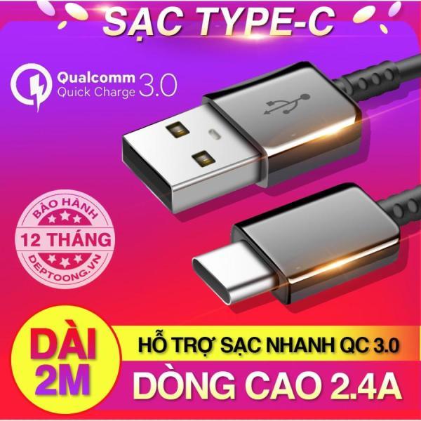 [Nhập ELMAR31 giảm 10% tối đa 200k đơn từ 99k]Dây sạc USB Type C hỗ trợ sạc nhanh Qualcomm Quick Charge cho Samsung Galaxy Note 8/ S8/ S8 Plus 9/ 9 Plus 10 10 plus và các máy có cổng Type-C