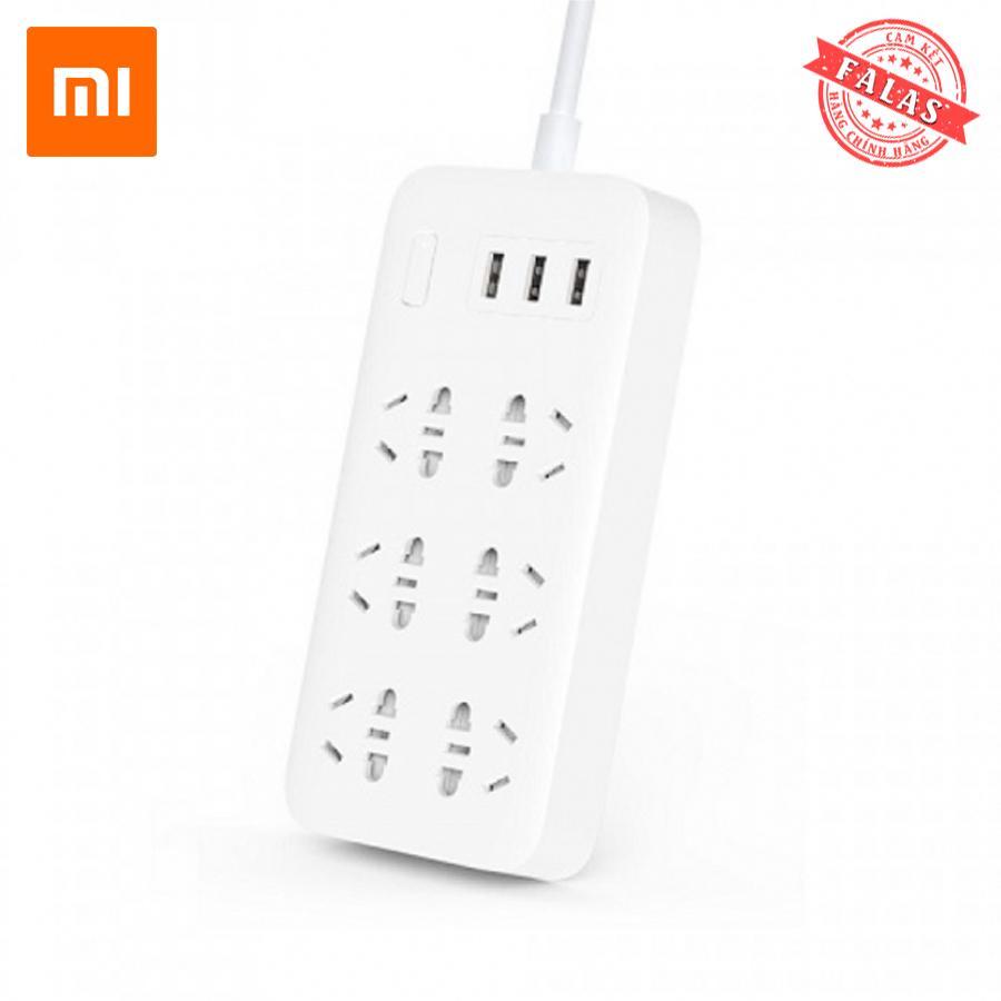 Ô cắm Xiaomi Mi Power Strip 6 cổng 3 USB - Bảo hành 12 tháng - FALAS