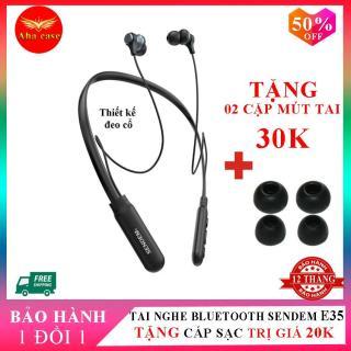 Tai nghe Bluetooth Sendem E35 - Bảo hành 12 tháng, tai nhe sendem e35, tai nghe bluetooth quàng cổ, tai nghe không dây, tai nghe nhét tai + Tặng kèm dây sạc 20K + 2 bộ mút tai 30K, Aha Case thumbnail