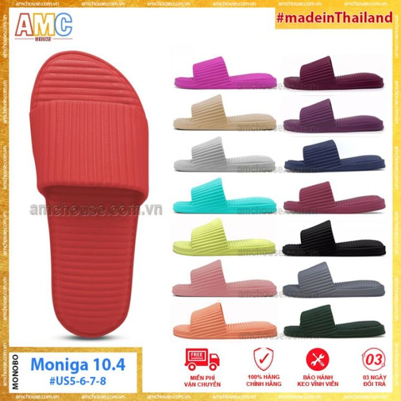 Dép đúc Thái Lan sọc gồ MONOBO form chuẩn - Moniga 10.4 giá rẻ