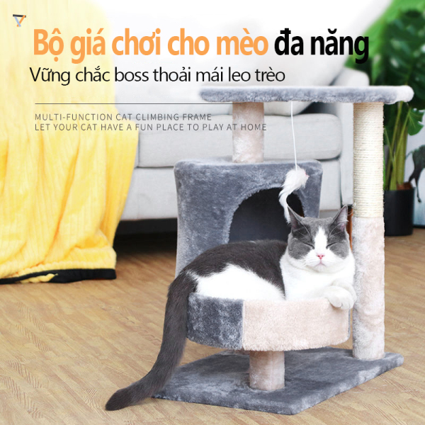Tiết Kiệm Không Gian Đào Tạo Chống Mòn Chống Cắn Đồ Chơi Cột Trang Chủ Chơi Làm Sắc Nét Khung Leo Trèo Cho Mèo