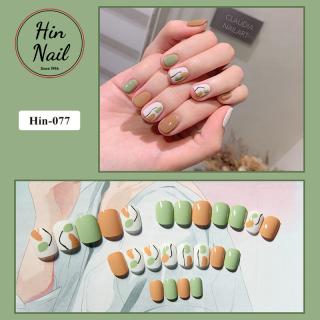 [TẶNG 4 phụ kiện] móng tay giả có keo sẵn dán móng cao cấp chống nước - mong tay giả giá rẻ chất lượng cao thumbnail