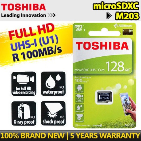Thẻ Nhớ MicroSDXC Toshiba M203 UHS-I U1 128GB 100MB/s