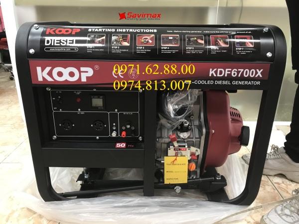 Máy phát điện Koop KDF6700X công suất 5kva