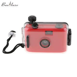 Máy ảnh phim Lomo 35mm chống nước baoblaze có vỏ, 16ft dưới nước, có thể tái sử dụng, màu đỏ