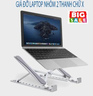 Giá đỡ Laptop Nhôm 2 thanh chữ X,Giá đỡ, kệ đỡ laptop, bằng hợp kim nhôm 2 thanh X thông minh gấp gọn - Bàn laptop giúp tản nhiệt gấp gọn thông minh điều thumbnail