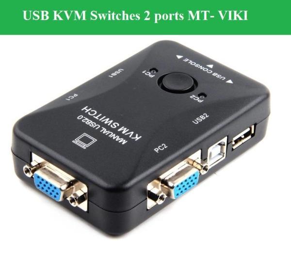 Giá USB KVM Switches 2 ports MT- VIKI (Đen)