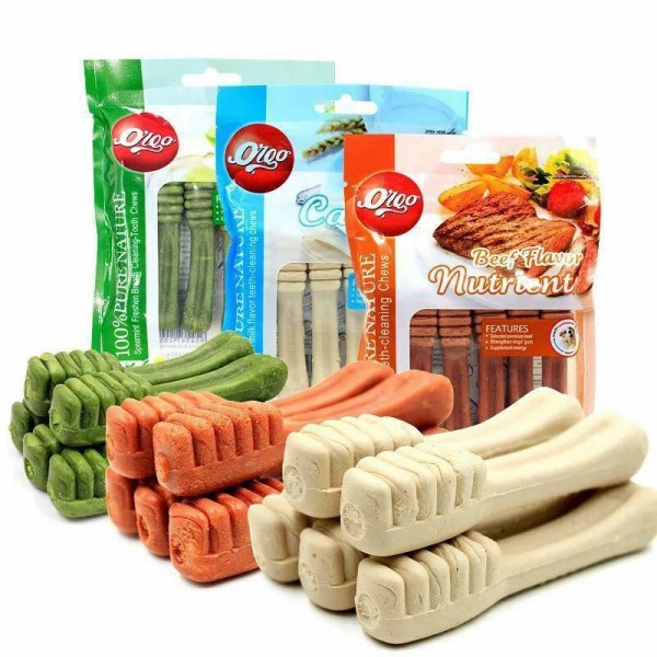 Bánh Xương Cho Chó Bổ Sung Canxi Và Làm Sạch Răng Orgo - Sữa