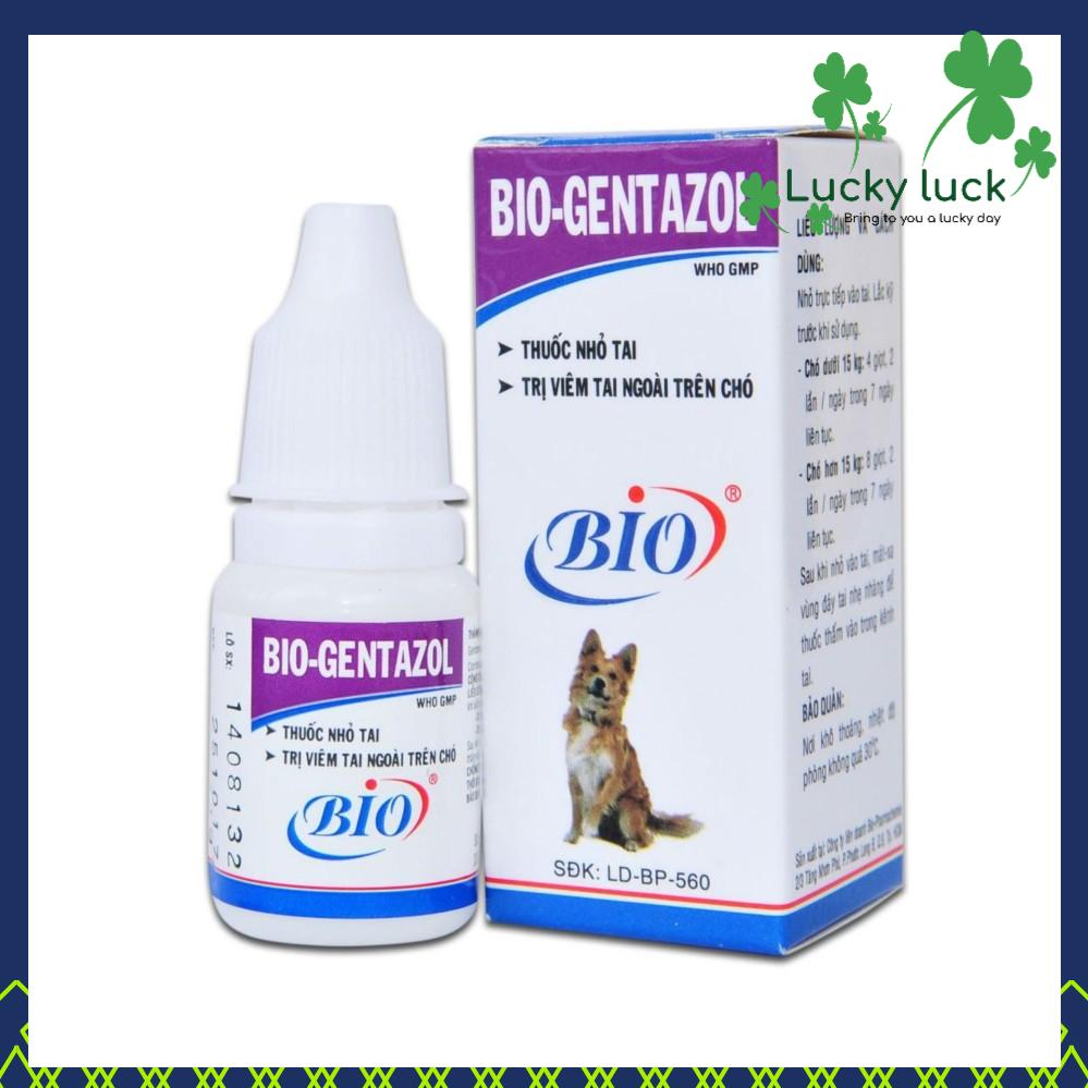 Thuốc Nhỏ Tai Cho Chó - Thuốc Trị Viêm Tai Chó Mèo - Bio Gentazol 10ml Nhật Bản