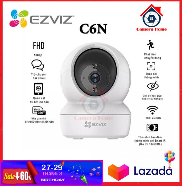 [NHÀ PHÂN PHỐI] Camera IP Wifi  EZVIZ CS-CV246 C6N 2.0MP (1080P) Xoay 360 Thông Minh - Camera Giám Sát WIFI Không Dây + Đàm Thoại 2 Chiều - Camera Home