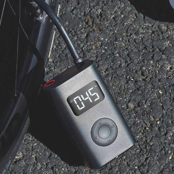 Bơm xe cầm tay đa năng Xiaomi Mijia Bicycle Pump MJCQB01QJ sạc điện hiển thị áp suất lốp dùng cho cả ô tô