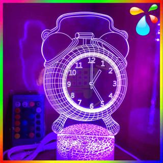 Đèn ngủ 3D 16 Màu - Đèn Trang Trí Phòng Ngủ - Điều khiển Từ Xa thumbnail