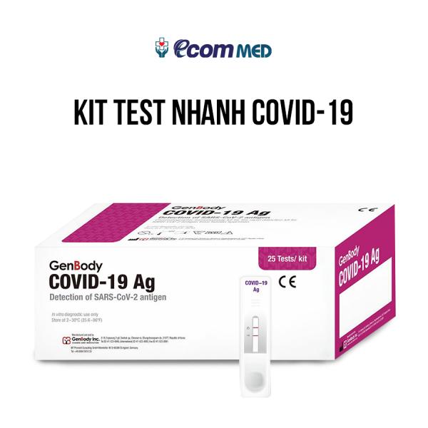 Bộ KIT Test nhanh Covid-19 GenBody (1 hộp 25 KIT)