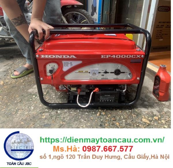 Máy phát điện Honda EP4000CX (Giật nổ - 3.3KVA) Thailand