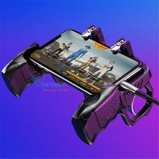 Tay cầm chơi game PUBG K21 giá rẻ cho mobile, tay cầm chơi game Free fire, Rules of Survival...tay cầm chơi game 4 ngón kết hợp gamepad và giá điện thoại thumbnail