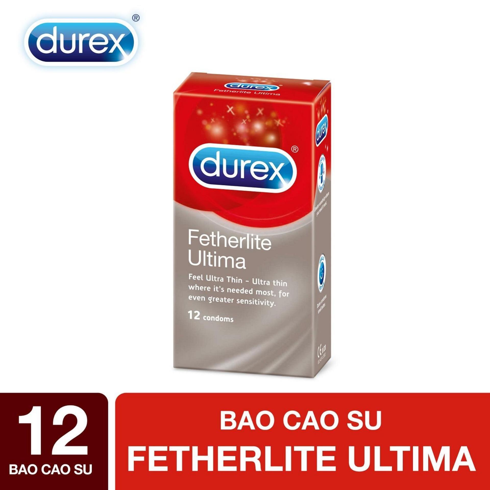 Bao Cao Su Durex Fetherlite Ultima Siêu Mỏng 12 Condoms chính hãng