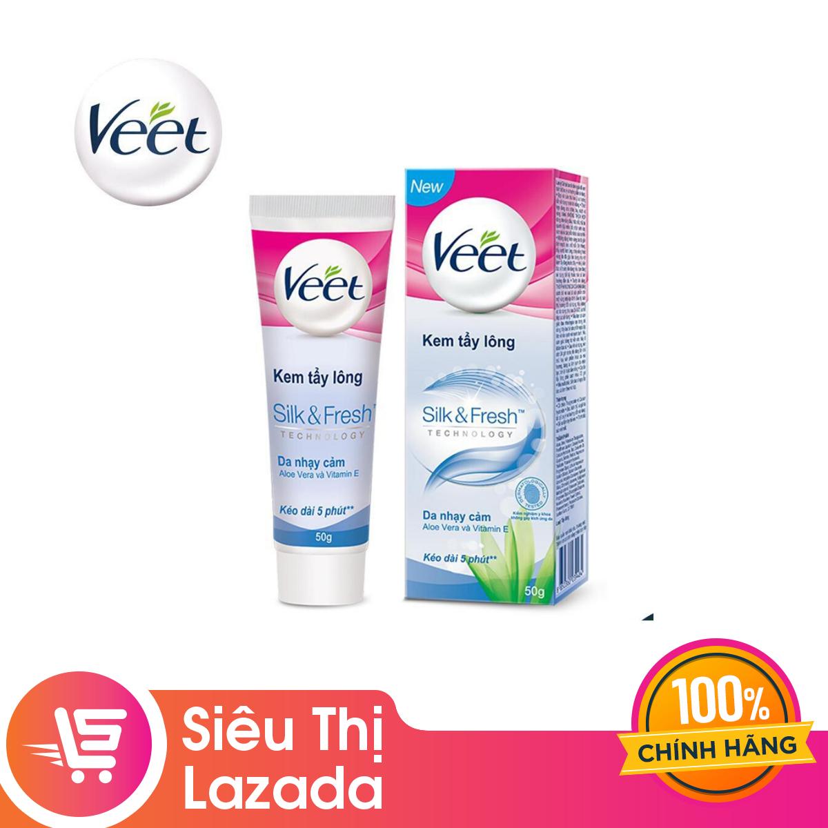 Kem Tẩy Lông Cho Da Nhạy Cảm Veet Silk Fresh 50g Có Giá Ưu Đãi